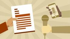 Rédaction et diffusion d'un communiqué de presse