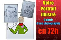 """Votre portrait illustré """"humain"""" et """"animaux"""""""
