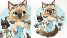 Votre animal en portrait Manga Chibi