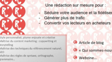 Rédaction article blog ou webzine