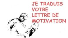 Je traduis votre lettre de motivation en ANG