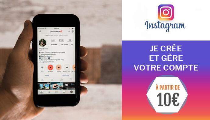 Instagram elevator : Je crée et gère votre compte