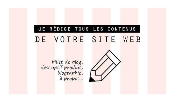 Je rédige le contenu de votre site web