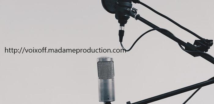 Je vais enregistrer votre voix off de qualité pro