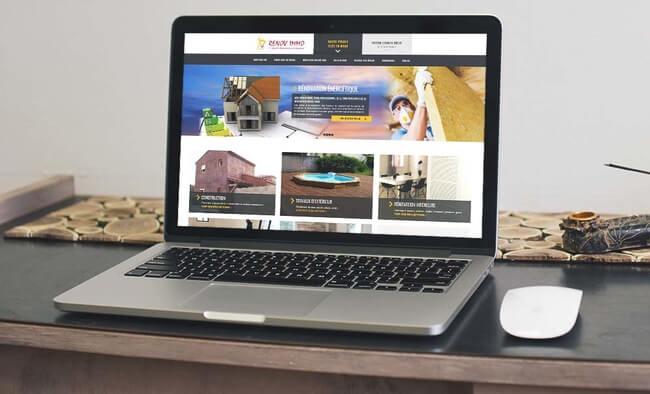 Je crée le webdesign site vitrine / site one page