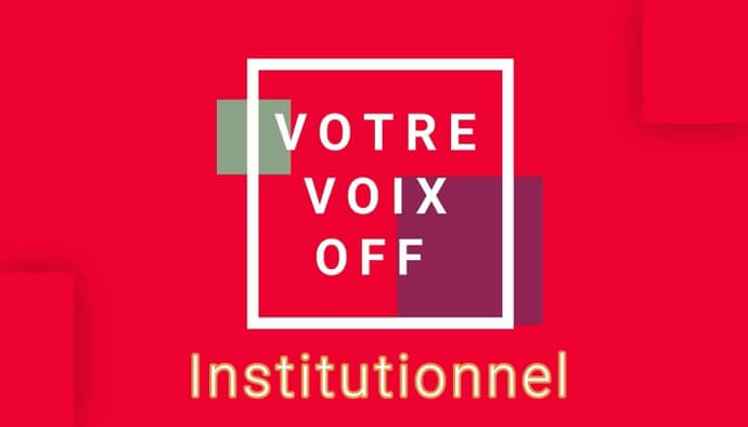 J'enregistre votre Voix Off Institutionnel en 24h!