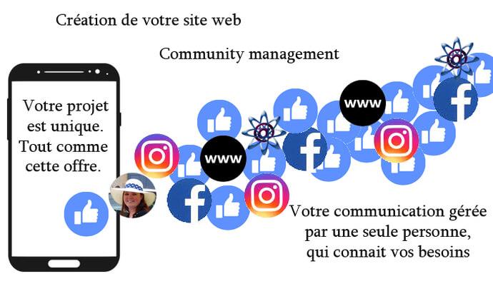Communication web: site internet + réseaux sociaux