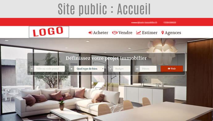 Site agence immobilière pro avec annonces