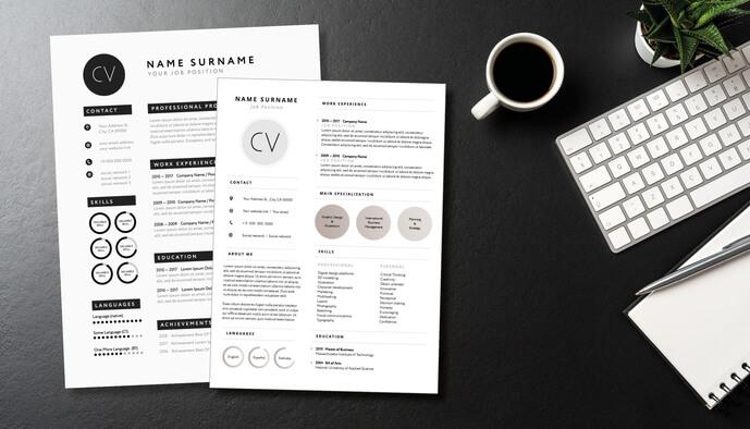 CV actuel, dynamique et percutant...