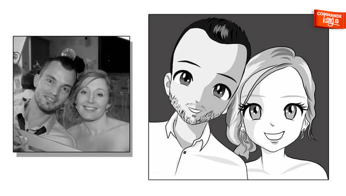Je réalise votre Portrait en Personnage de Manga