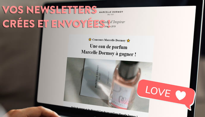 Je crée votre newsletter et gère son envoi