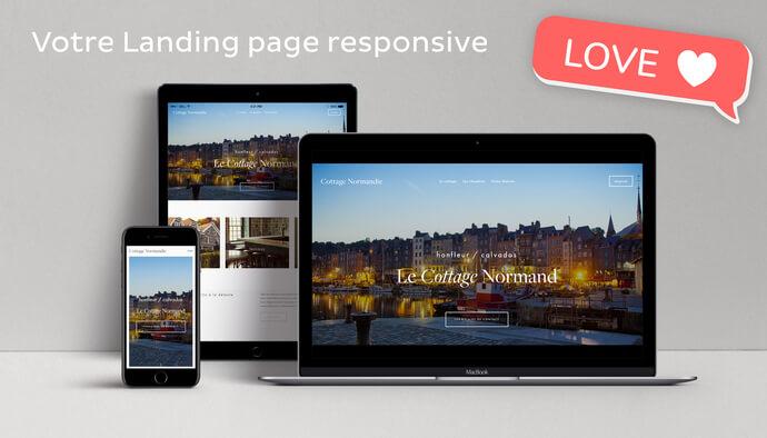 Votre landing page - responsive - optimisée SEO