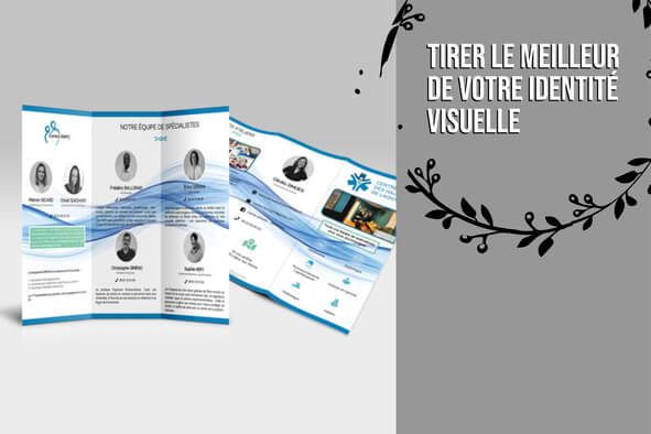 Visuel dépliant/flyer en 24h minimum