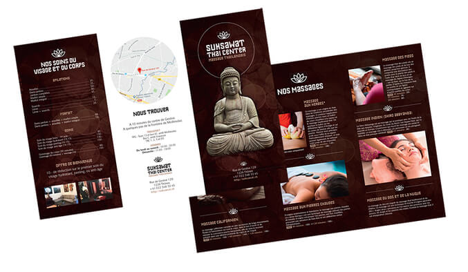 Support commercial > flyer / 4 pages / 3 volets