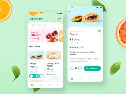 Je crée le design de votre appli mobile