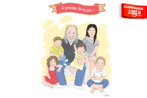 Je dessine votre portrait de famille !