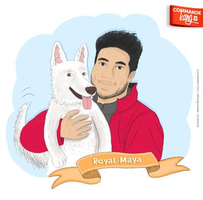 Je dessine votre portrait BD avec votre animal !