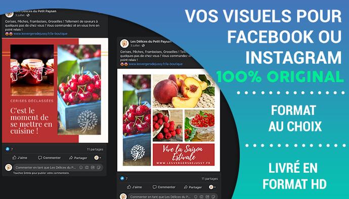 Je réalise vos visuels pour Facebook et Instagram