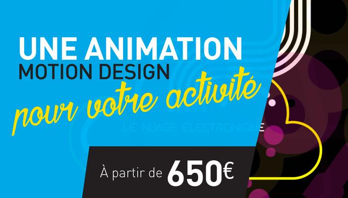 Je crée votre animation motion design
