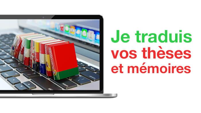 Je traduis les cours/thèses/mémoires de fin d'année