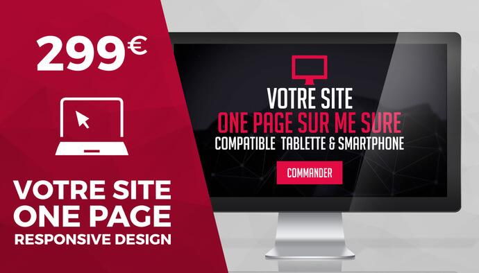 Site web OnePage responsive et sur mesure.