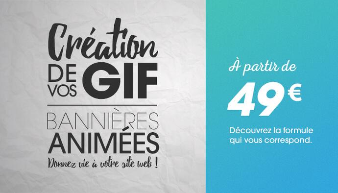 Je crée votre GIF animé / bannières web