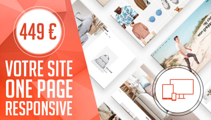 Site OnePage professionnel Administrable & Design