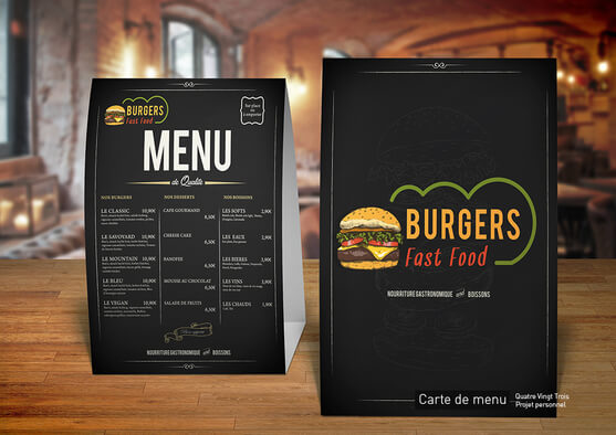 Je crée votre carte de menu sur-mesure