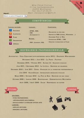 Votre CV design et original personnalisé