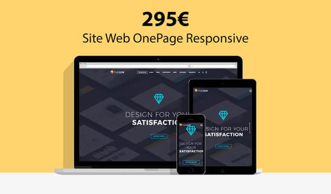 Votre Site Web OnePage Responsive et Performant