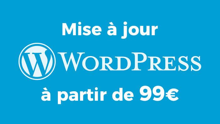 Je réalise la mise à jour de votre site Wordpress