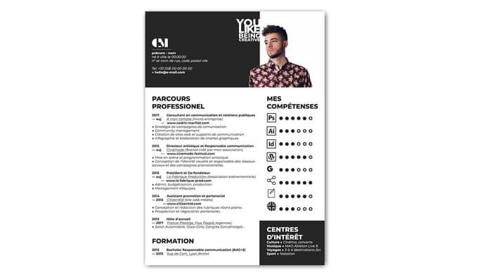 Je crée votre CV pro et original pour vous démarquer