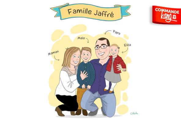 Je crée votre portrait famille personnalisé à offrir