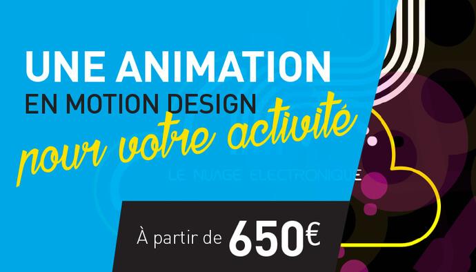 Je crée votre animation en motion design