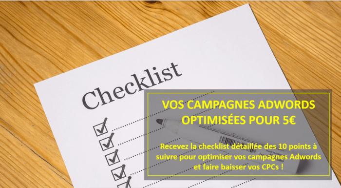 Checklist pour optimiser vos campagnes Adwords