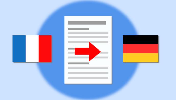 Je traduis vos documents FR > DE
