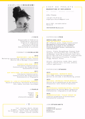 Un CV aussi beau qu'intéressant, clair qu'élégant!