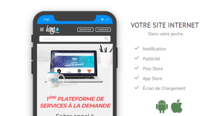 Votre Site Web dans une application