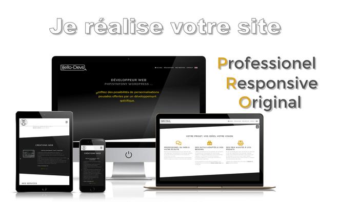 Je réalise votre site Moderne + Responsive + Pro