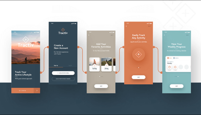 UI Design - Prototypes - Portable, Ordinateur