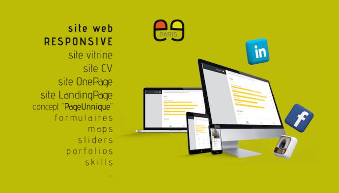 Sites web html5 Vitrine, CV, OnePage, LandingPage