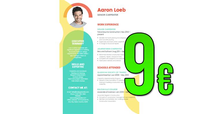 Je créer votre CV de rêve professionnel !