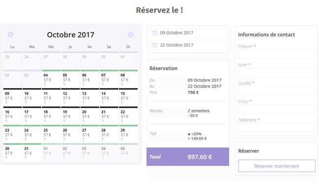 Je conçois votre site de booking/réservation