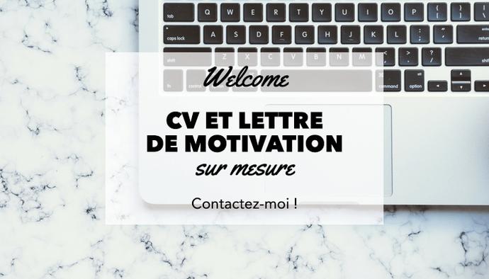 Je crée vos CV et lettre de motivation originaux