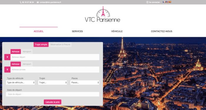 Je crée votre site internet pour VTC avec module de réservation